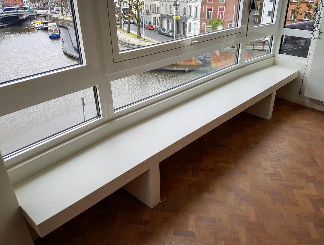 Zitbank In Gelakte Mdf #SplinterZ #handmade #furnituredesign #furniture # Gent #ghent