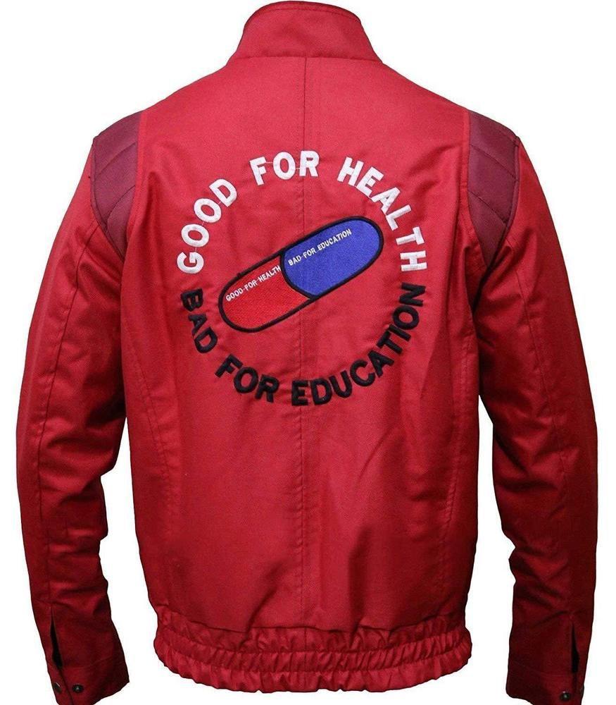 New Men S Akira Kaneda Good For Health Bad For Education Red Bomber Biker Jacket Fashion Clothing Men S Coats And Jackets Mens Jackets Long Sleeve Tshirt Men [ 1000 x 875 Pixel ]
