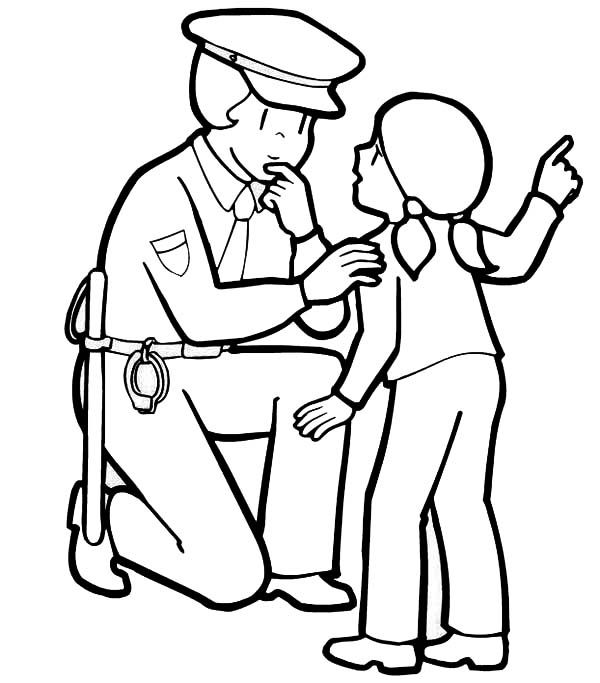 Police Officer Coloring Pages   Google Search