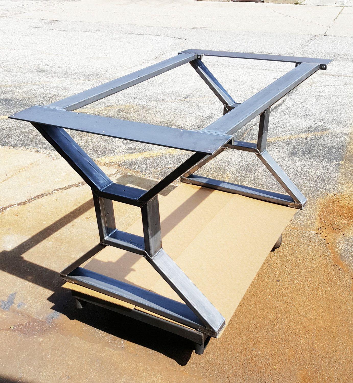 The Diamond Dining Table Base Industrial Base Sturdy Heavy Duty