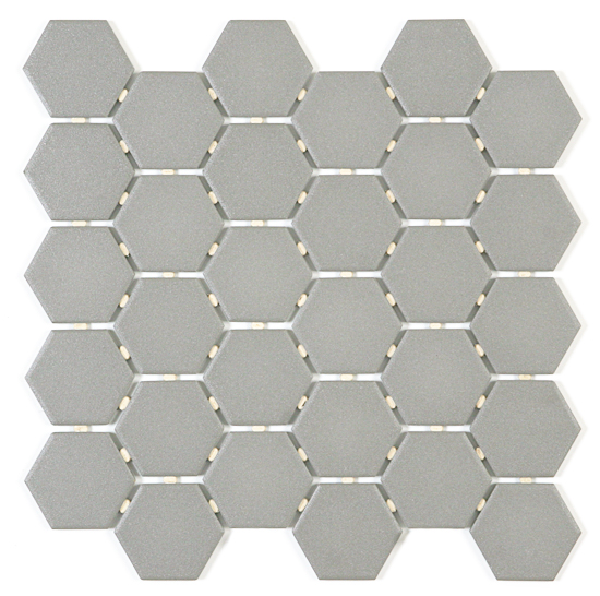 Metro Vintage Matte White Hexagon Porcelain Mosaic 1 Inch Hexagonal Mosaic Hexagon Porcelain Mosaic