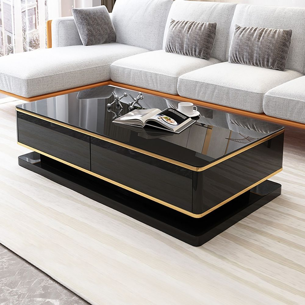 51 White Rectangular Coffee Table With Storage 4 Drawers Tempered Glass Top In 2021 Coffee Table Coffee Table Design Modern Unique Coffee Table Design [ 1000 x 1000 Pixel ]