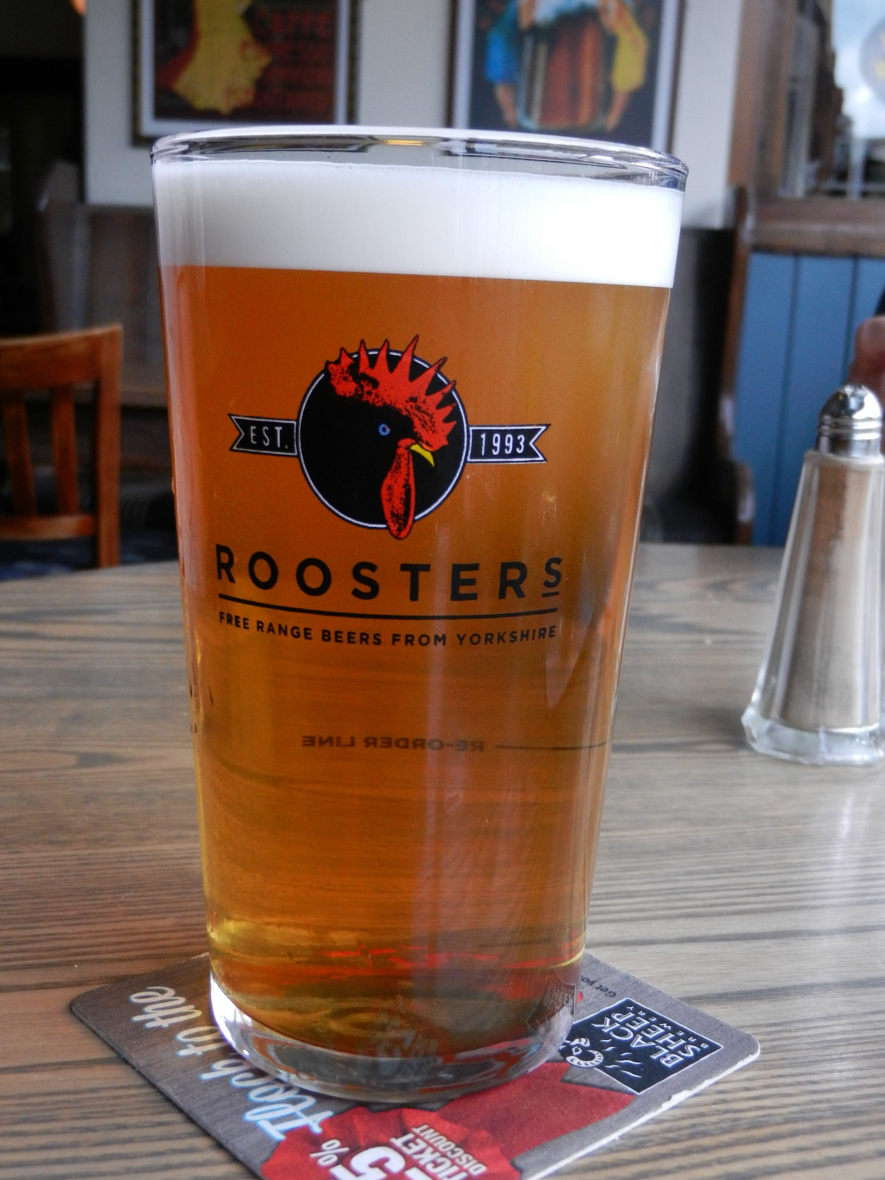Roosters Wild Mule in Veritas, Leeds Beer, Glassware