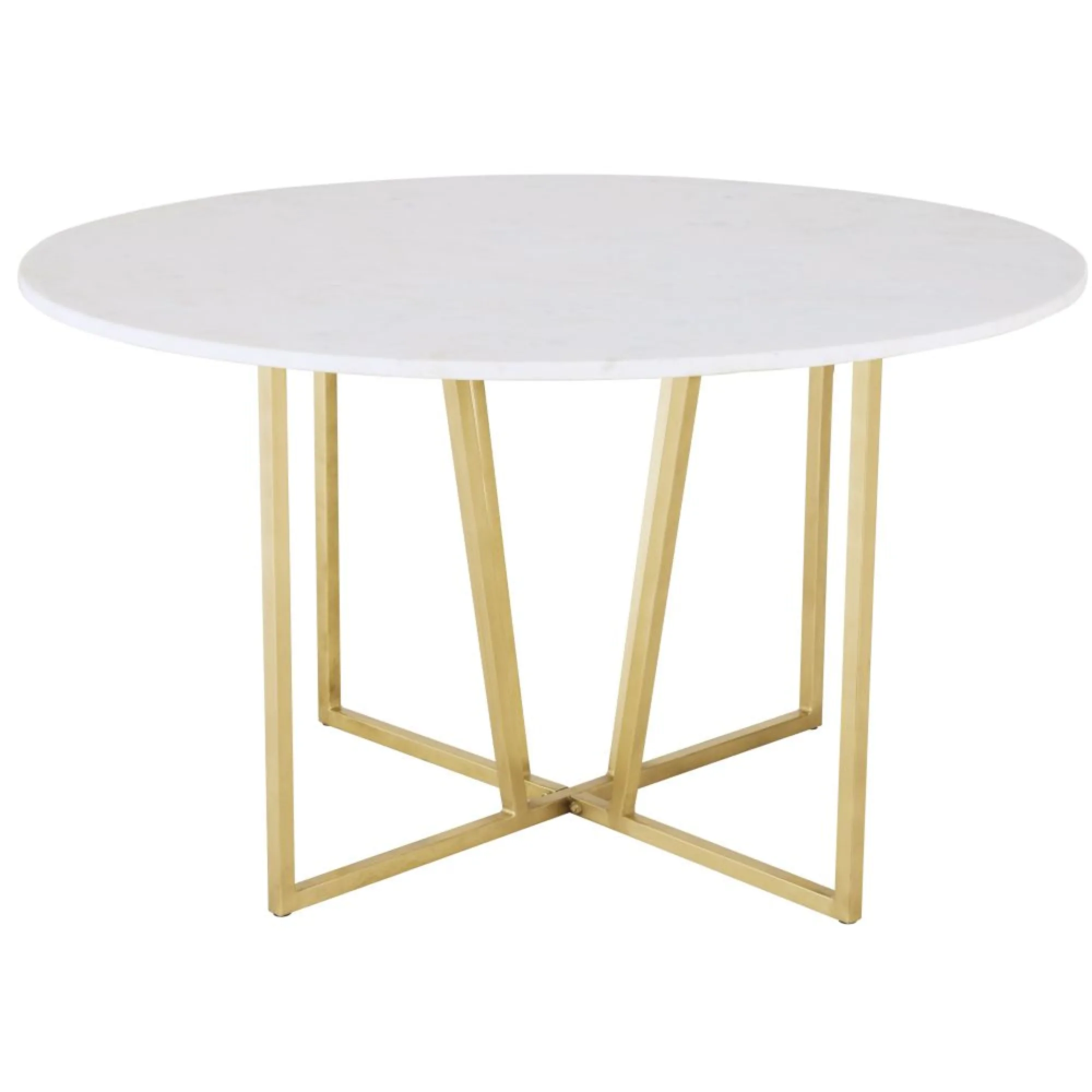 Table A Manger Ronde En Marbre Blanc 6 7 Personnes D130 Midtown Maisons Du Monde In 2020 Dining Table Dining Table Marble Table