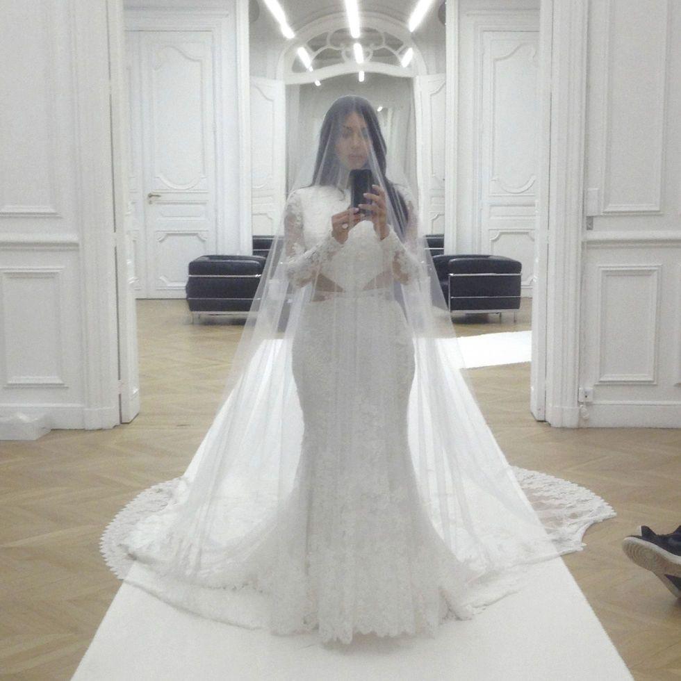 Exclusive 24 Hours With Kim Kardashian Givenchy Wedding Dress Kim Kardashian Wedding Kardashian Wedding [ 980 x 980 Pixel ]
