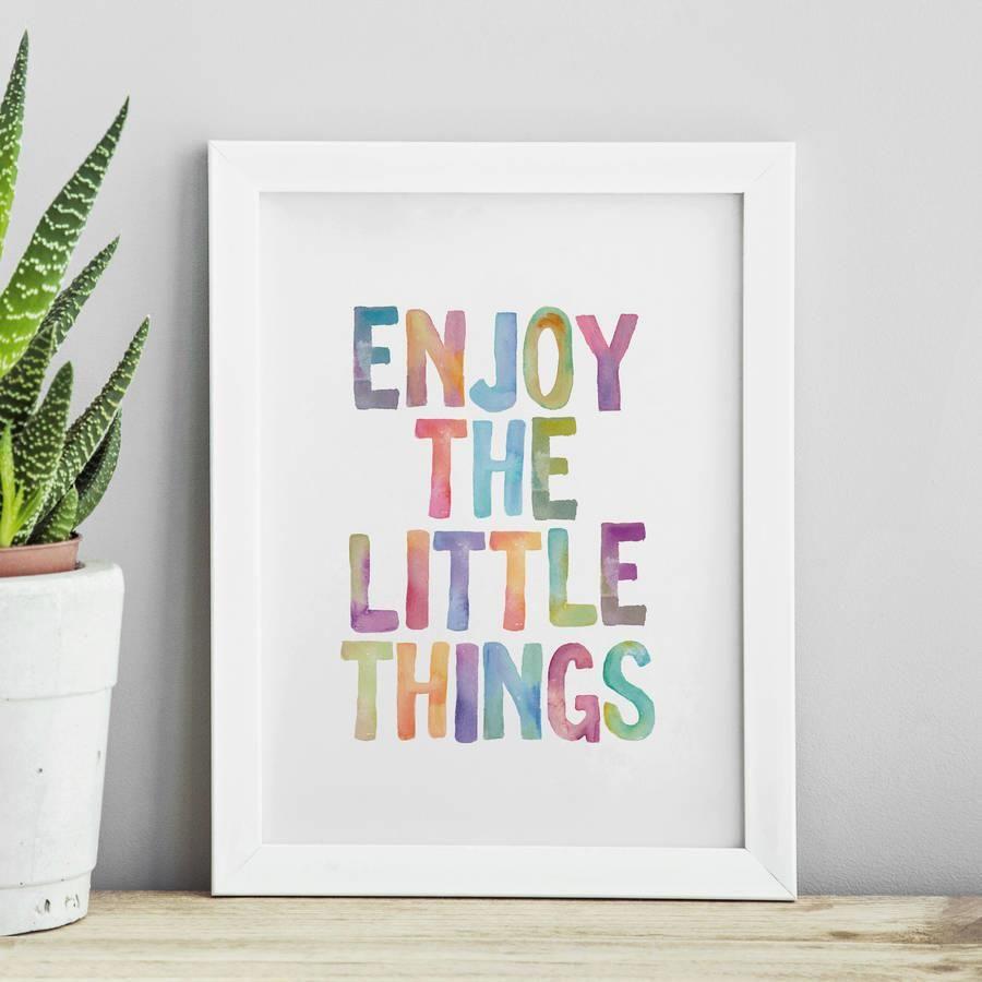 Enjoy the Little Things http://www.amazon.com/dp/B016E40KZU   motivationmonday print inspirational black white poster motivational quote inspiring gratitude word art bedroom beauty happiness success motivate inspire