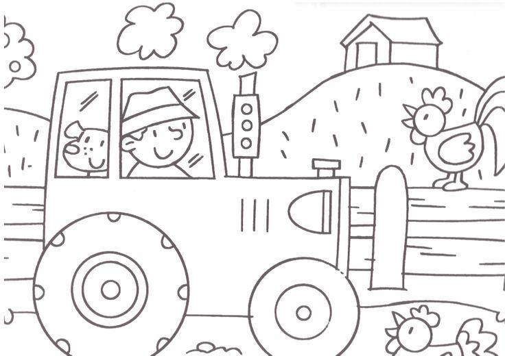 Afbeeldingsresultaat Voor Tractor Kleurplaat Farm Pinterest