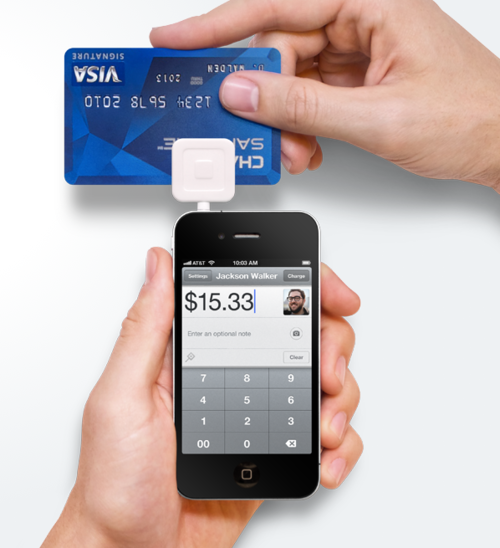 Square is a credit card reader that can use your
