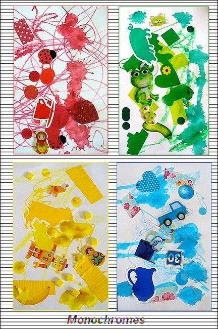 Fabuleux Activité manuelle : Les Monochromes. | Bricolage | Pinterest  BP71