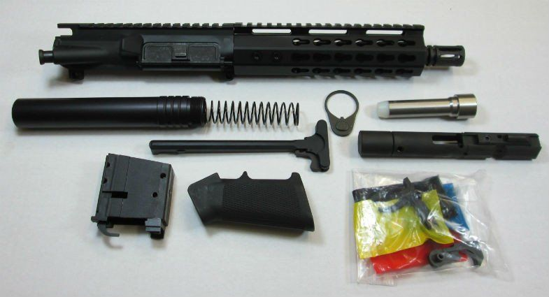 9MM AR 15 Pistol Kit 8.5 Inch with No Lower $460