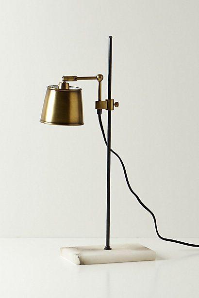 Brass Capped Desk Lamp Marble Base Luminaire Eclairage Exterieur Lampadaire