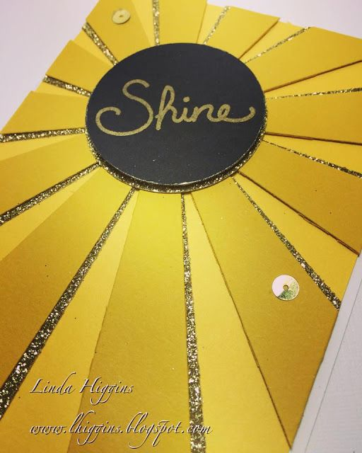 From the Stampin Up Spring Occasions Catalog - the new Sunburst Thinlits Die