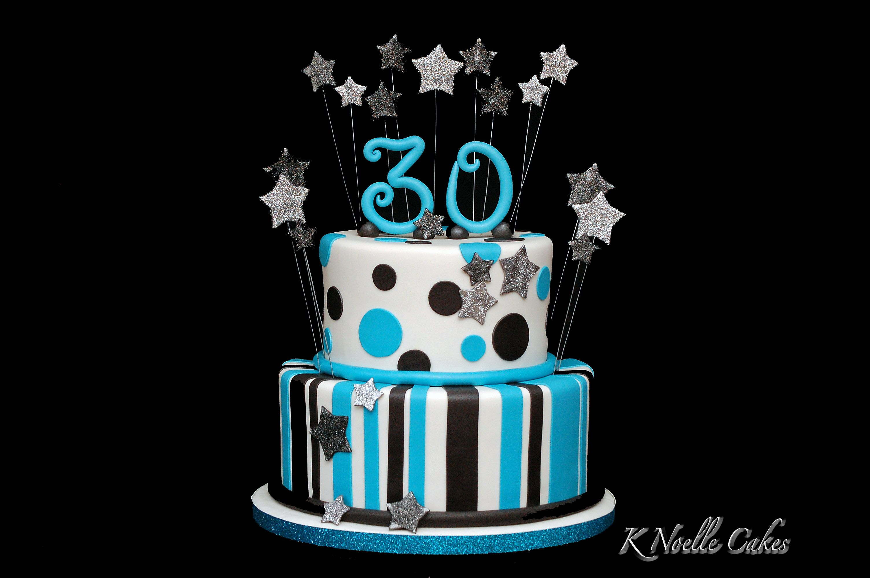 30th Birthday Cake By K Noelle Cakes Geburtstagstorte Kuchen