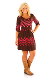 Everybody Glows Dress: Brown/Pink | Hope's/ must get this dress