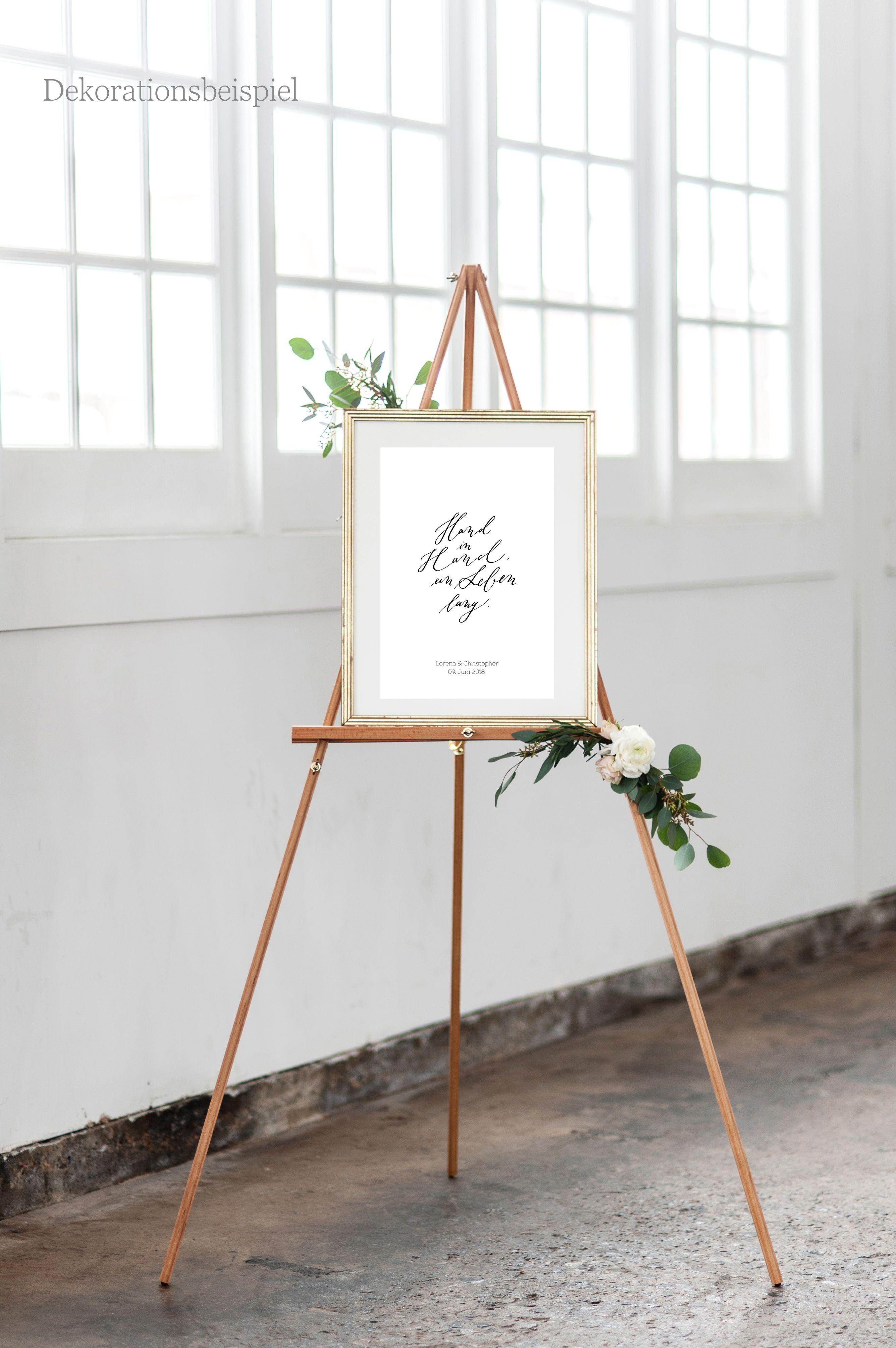 Hochzeitsdekoration Mit Schild Hochzeitsschild Poster Mit Namen Des