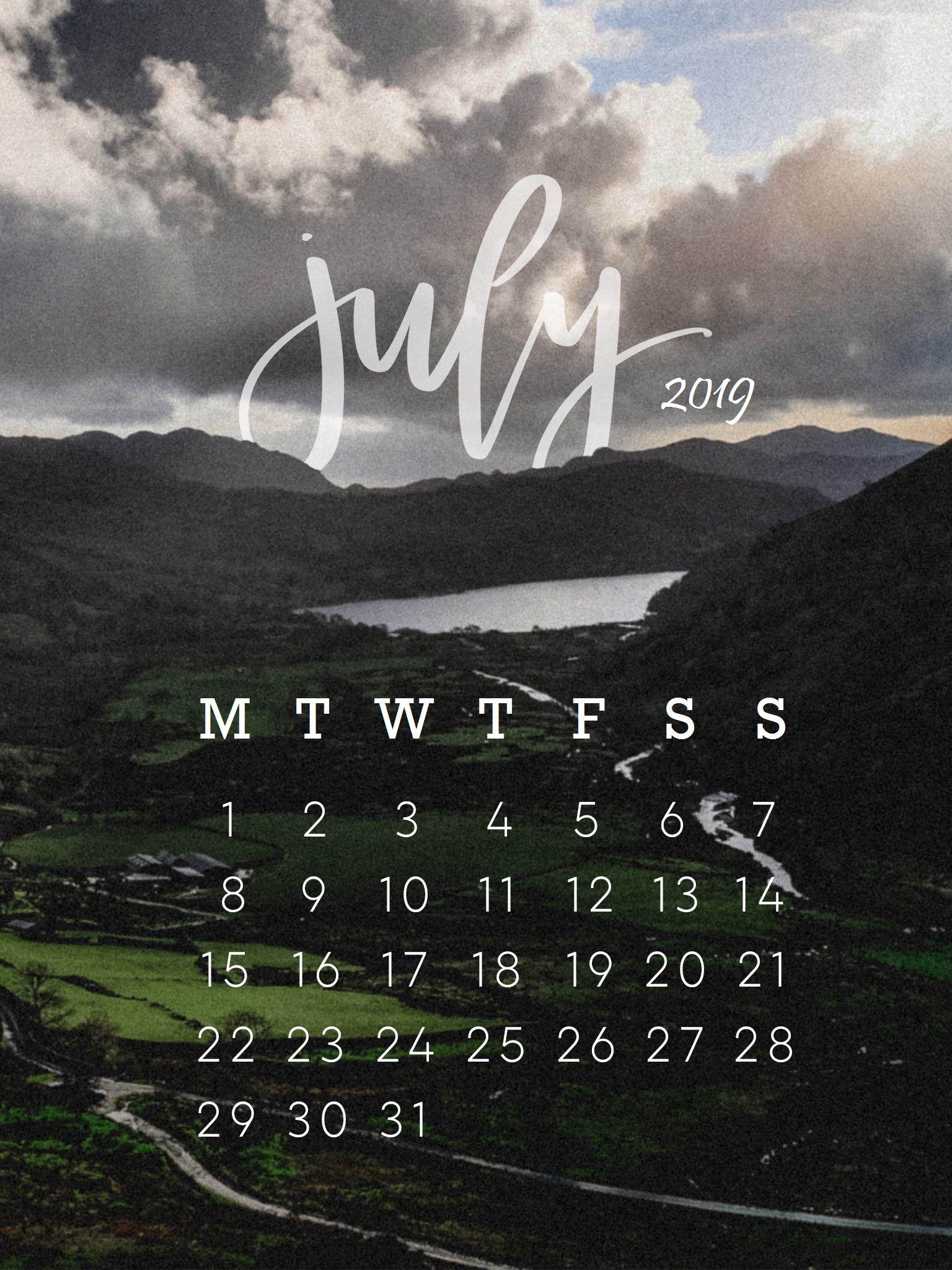July 2019 Iphone Calendar Wallpaper Calendar Wallpaper Calendar Background July Calendar