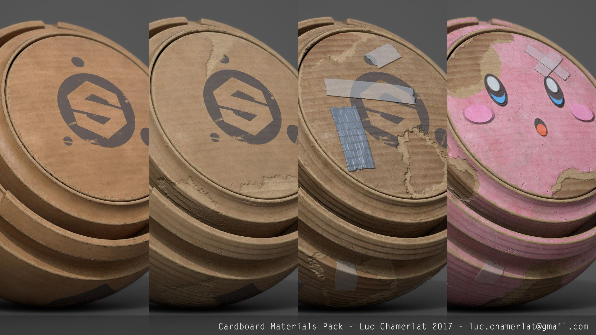 ArtStation - Gumroad free - Cardboard Materials Pack