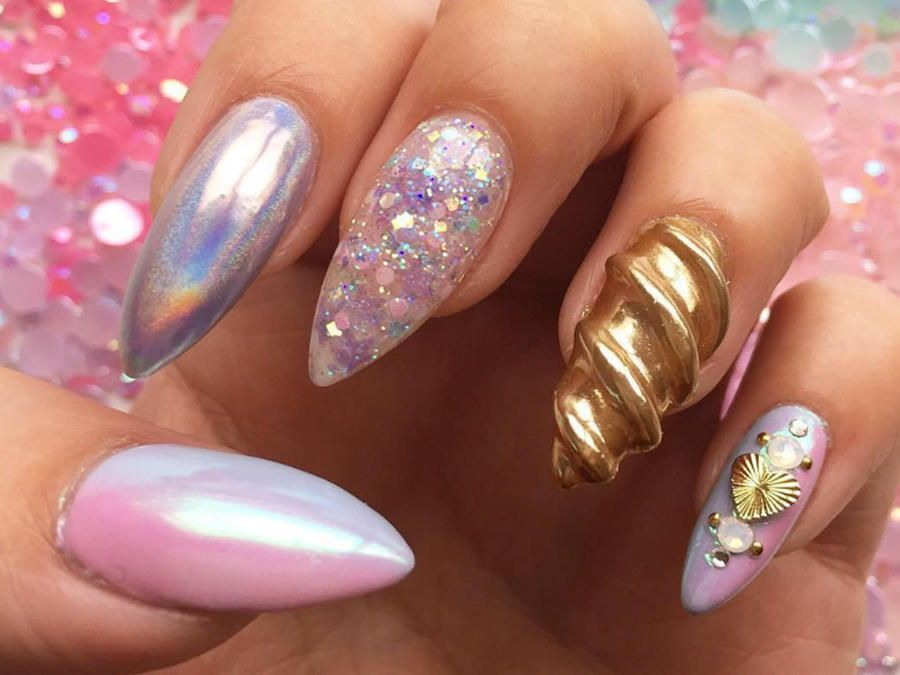 Unicorn Horn Nails Are Bringing Mystical Magic To Your ...