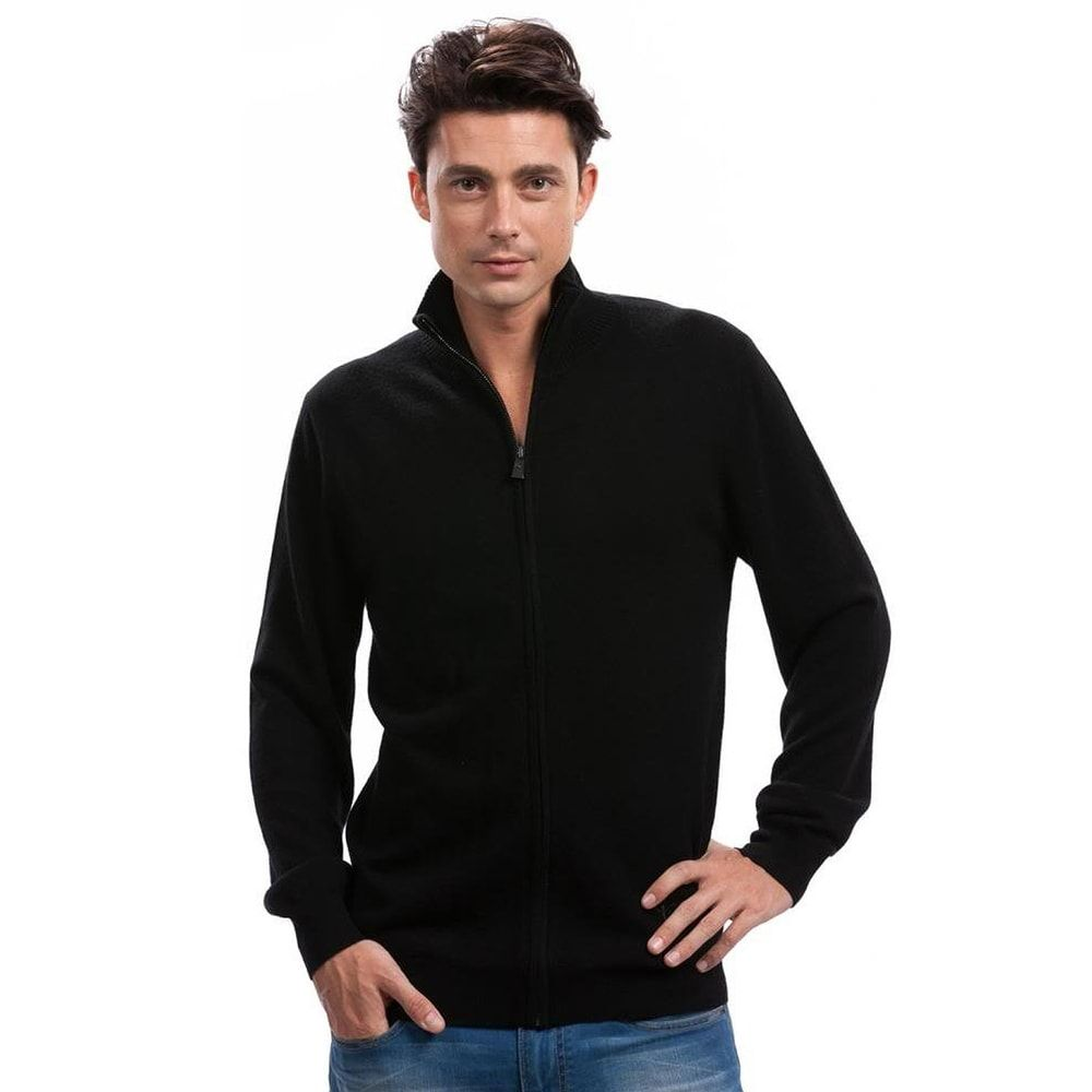 Mens black cashmere cardigan | Men's Casual Wear for Fall/Winter ...