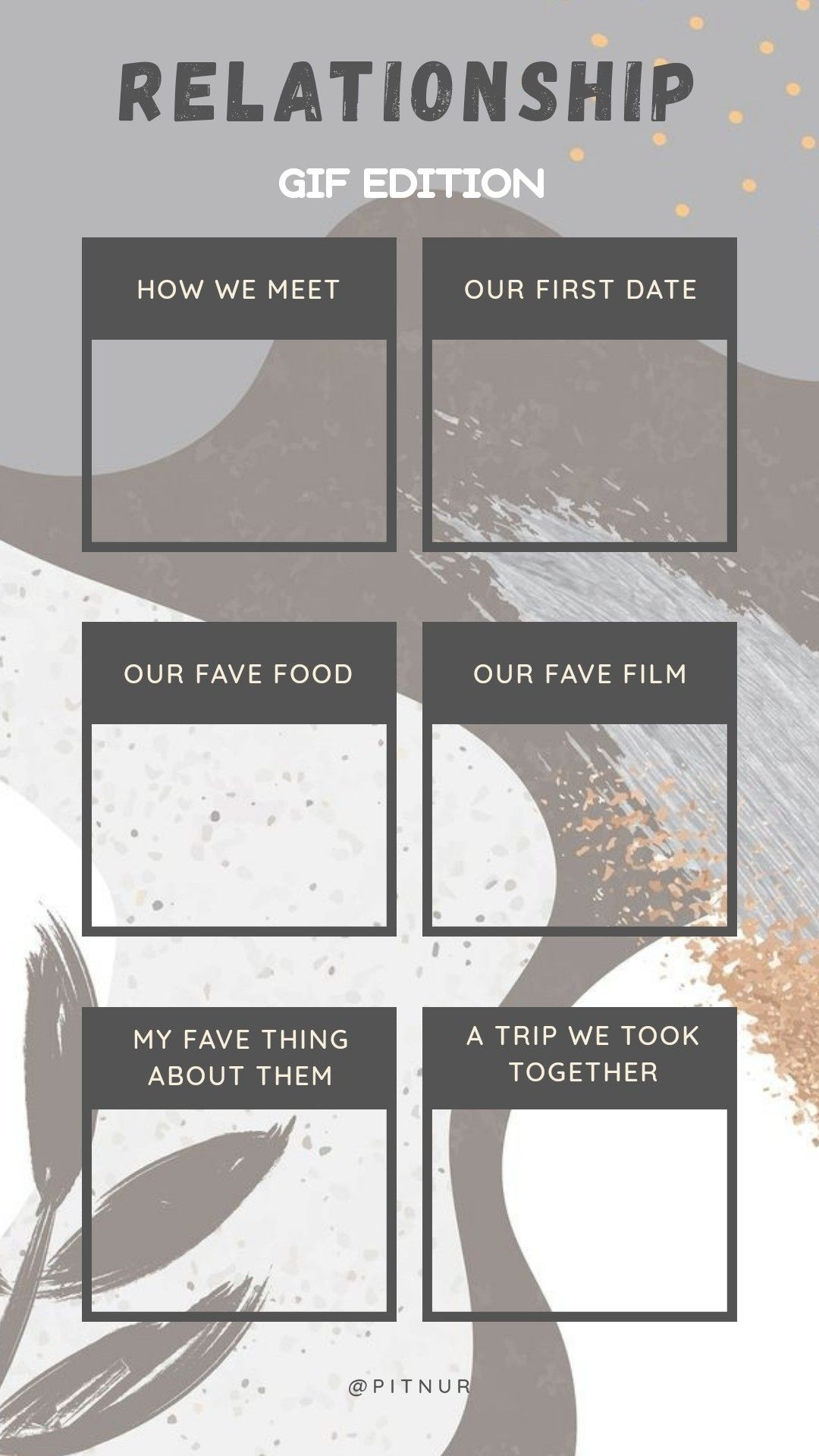 Relationship Gif Edition Couple Quiz Template Instagram