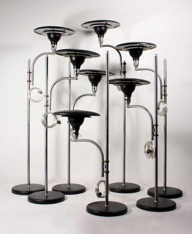 Seven Matching Vintage Sight Light Floor Lamps By M G Wheeler Patented 1938 Floor Lamp Floor Lights Lamp
