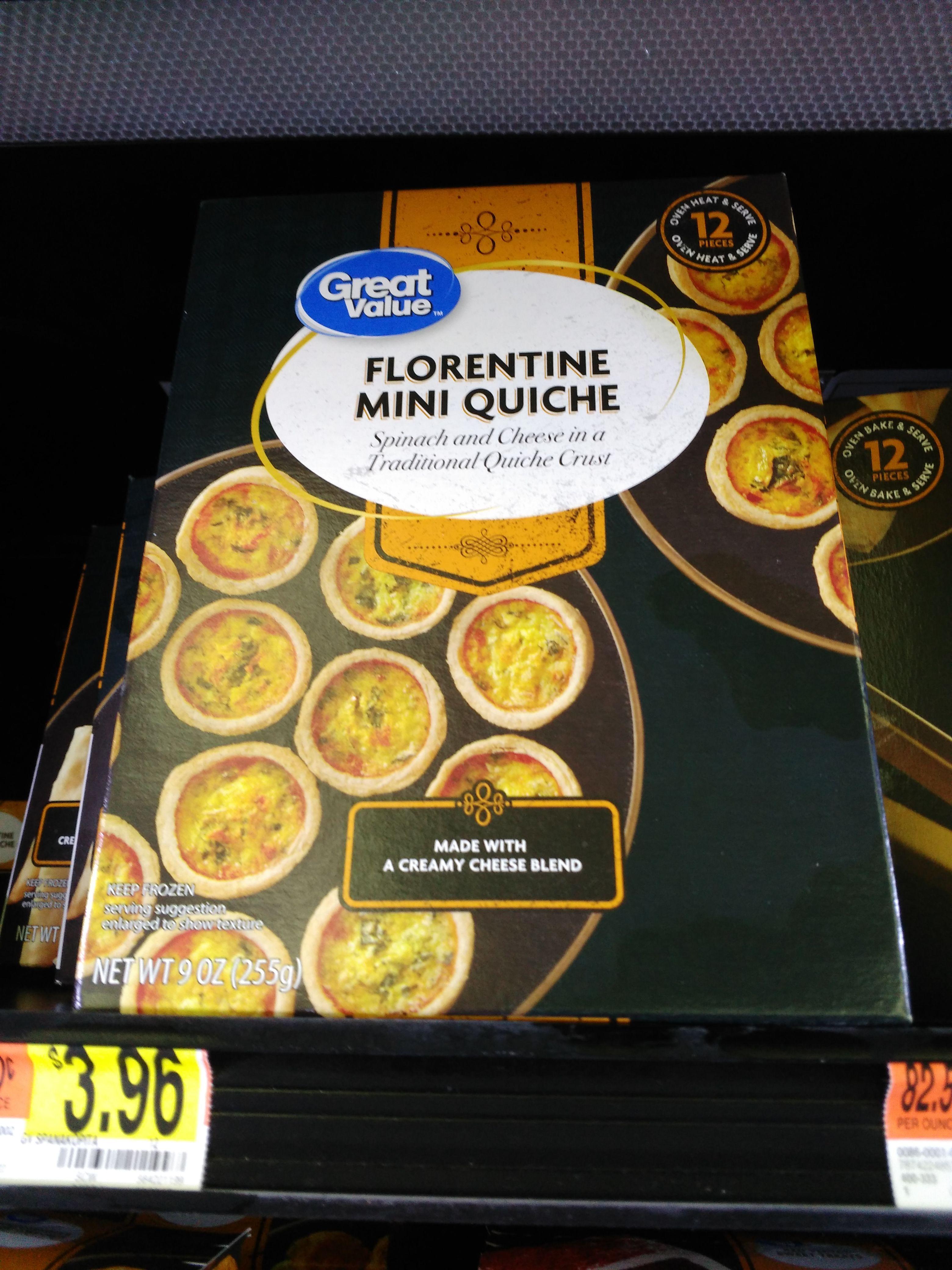 great value florentine mini quiches mini quiche spinach and cheese snacks great value florentine mini quiches