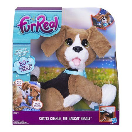 Furreal Chatty Charlie The Barkin Beagle Electronic Pet Walmart Com Fur Real Friends Interactive Puppy Plush Dog