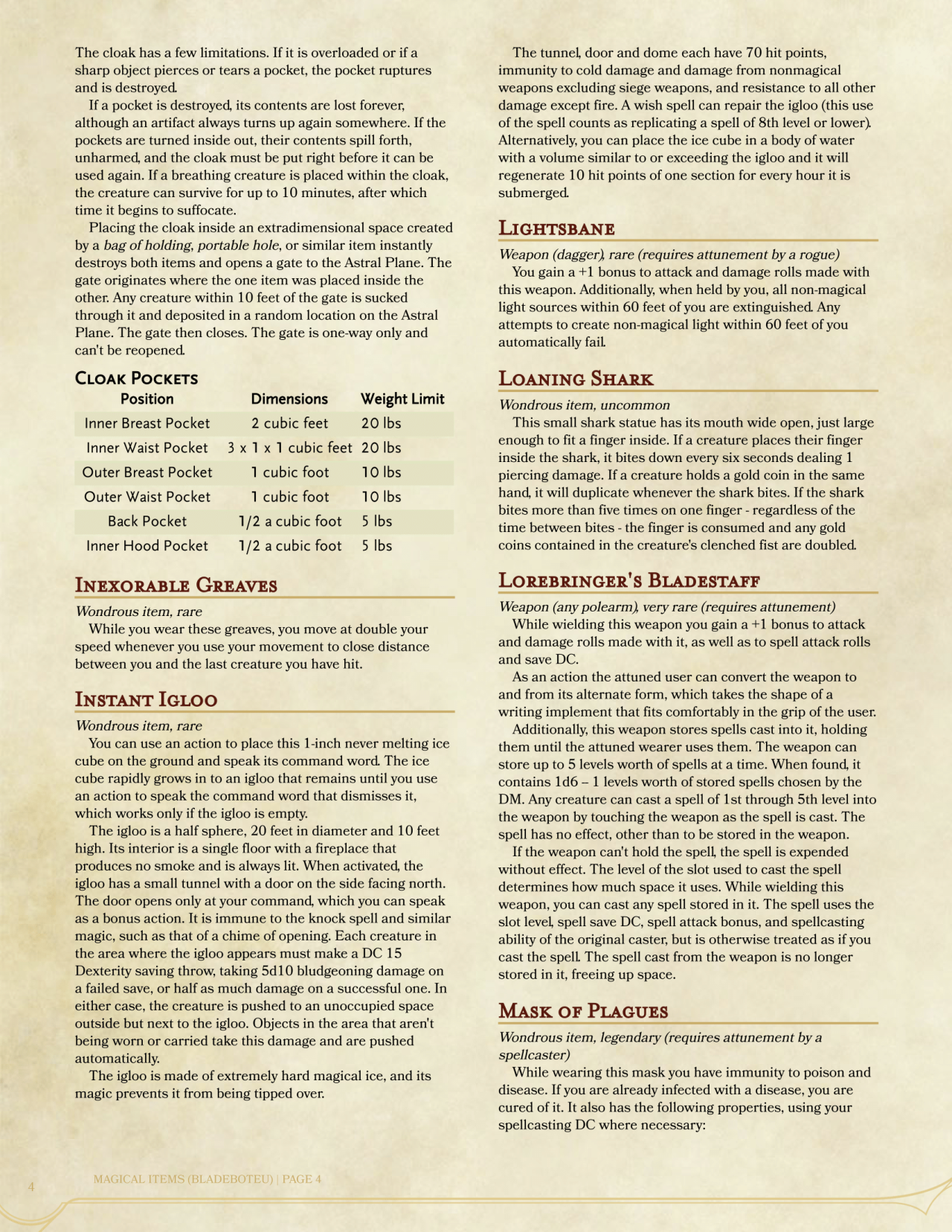 Creating Magic Items 5e