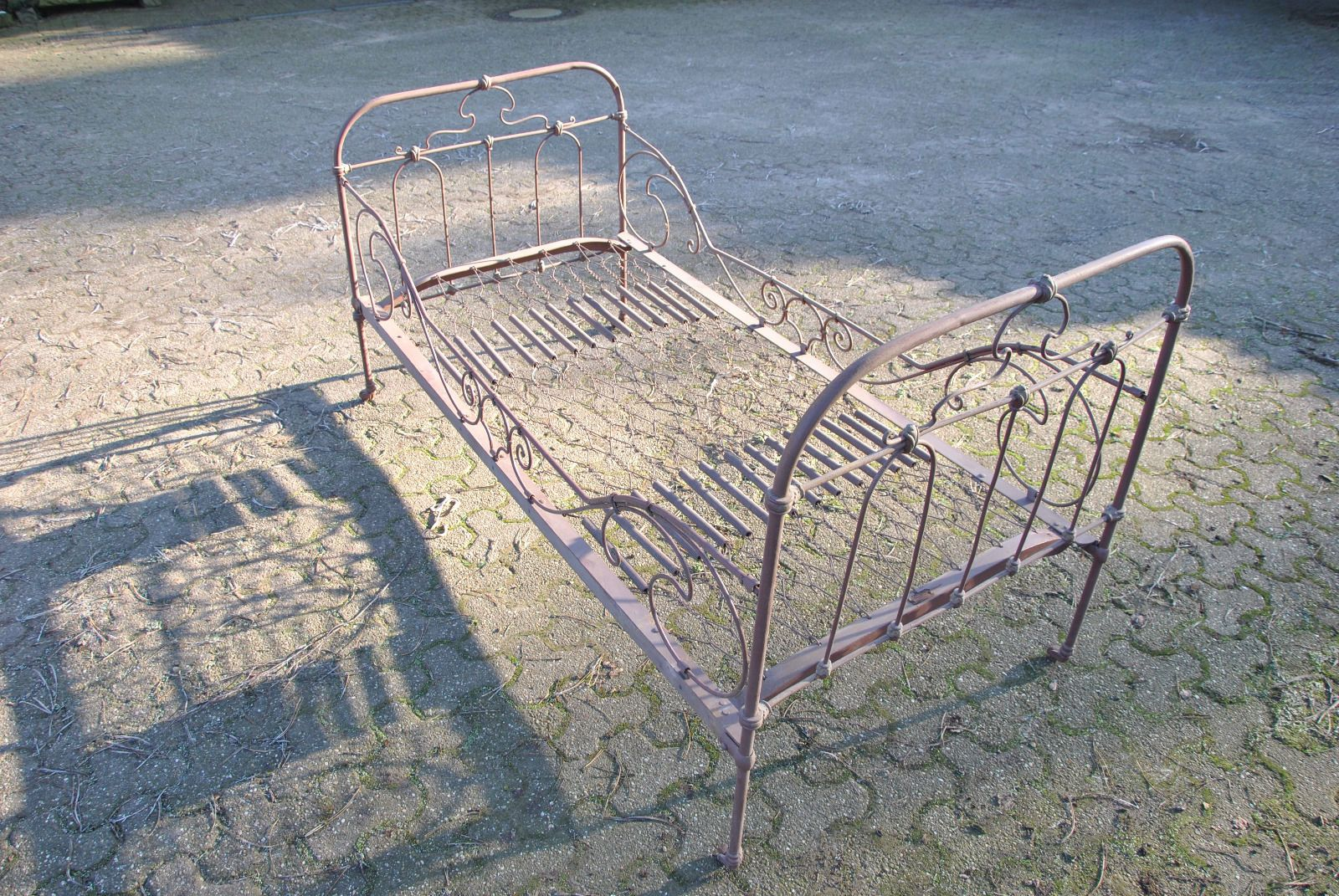 Metall Eisen Bett Alt Antik Klappbar Metallbett Eisenbett Top Deko