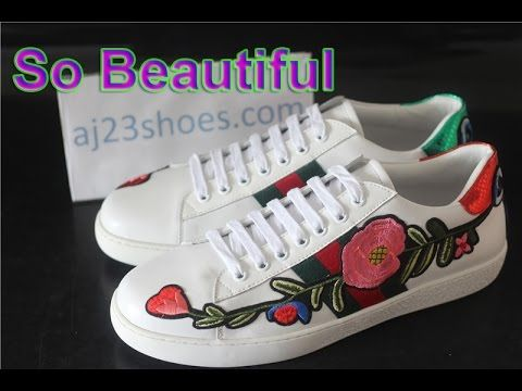 10f48741aeb2fc Gucci Ace embroidered low-top sneaker Unboxing   Review Air Jordans