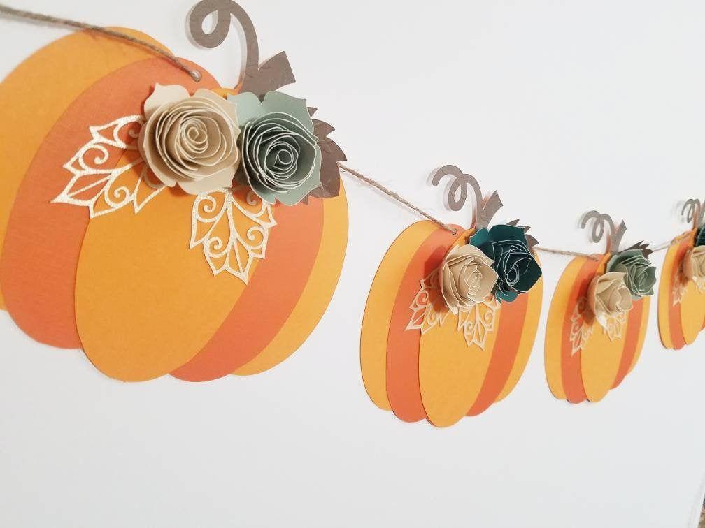 Fall banner, pumpkin banner, fall in love, Thanksgiving banner, Thanksgiving dec…