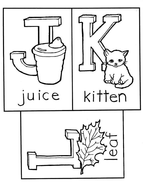 Leaf Juice Kitten Coloring Page Baby Shower Game Nursery Decoration ABC 4 X 6 Memory Keepsake Gift