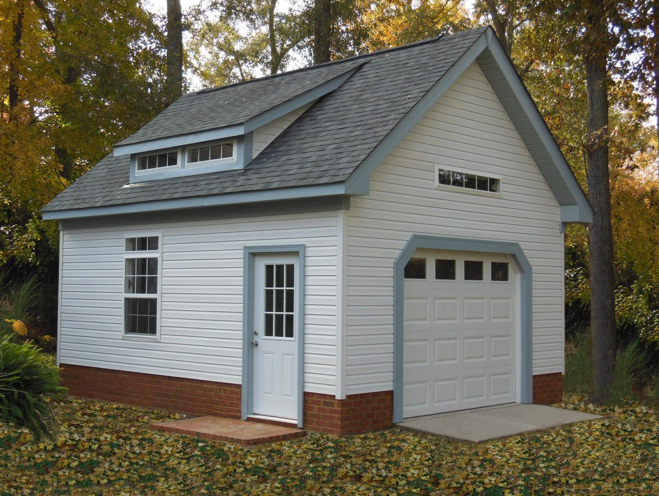 Hardiplank 18x20 Garage Shed In 2019 Garage Detached Garage