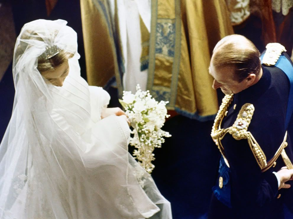 Anne S Wedding: Princess Anne, Shown With Her Father Prince Phillip