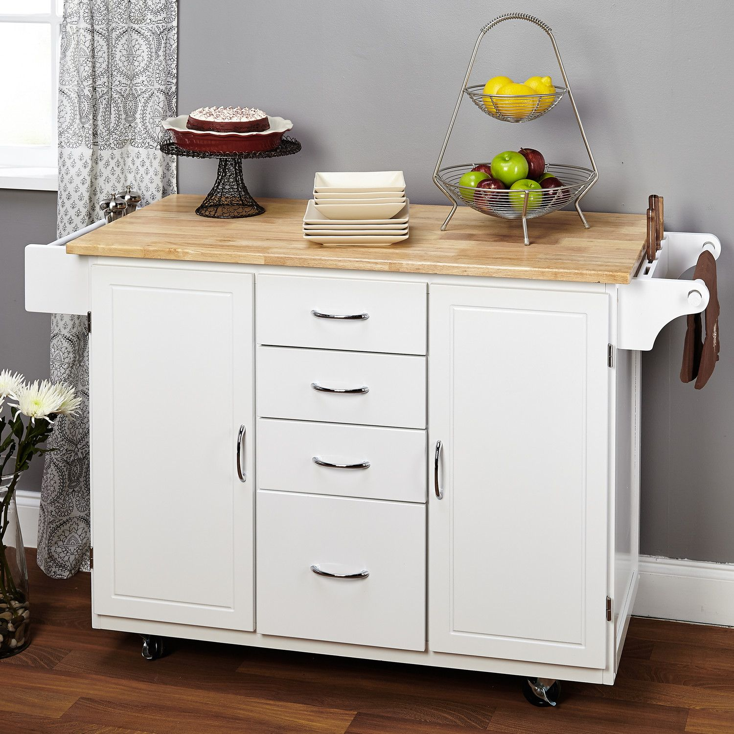 Tms cottage kitchen island great trash can and kid dishes storage