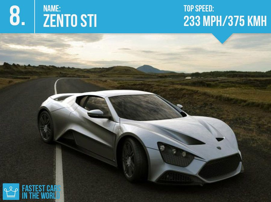 fastest cars in the world 2013 7 zento sti top speed 233 mph 375 kmh fantastic cars. Black Bedroom Furniture Sets. Home Design Ideas