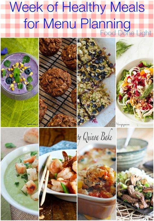 Week of healthy recipes for meal planning healthy menu plan a healthy menu plan for one week healthy recipes for breakfast lunch dinner forumfinder Choice Image