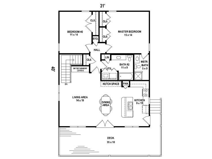 Carriage house plans carriage house plan for a sloping for Waterfront home plans sloping lots