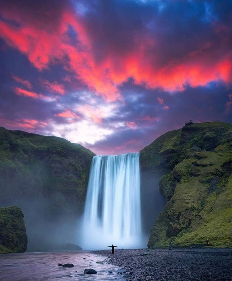 Catch The Sunset Over A Waterfall, Using Long Exposure For