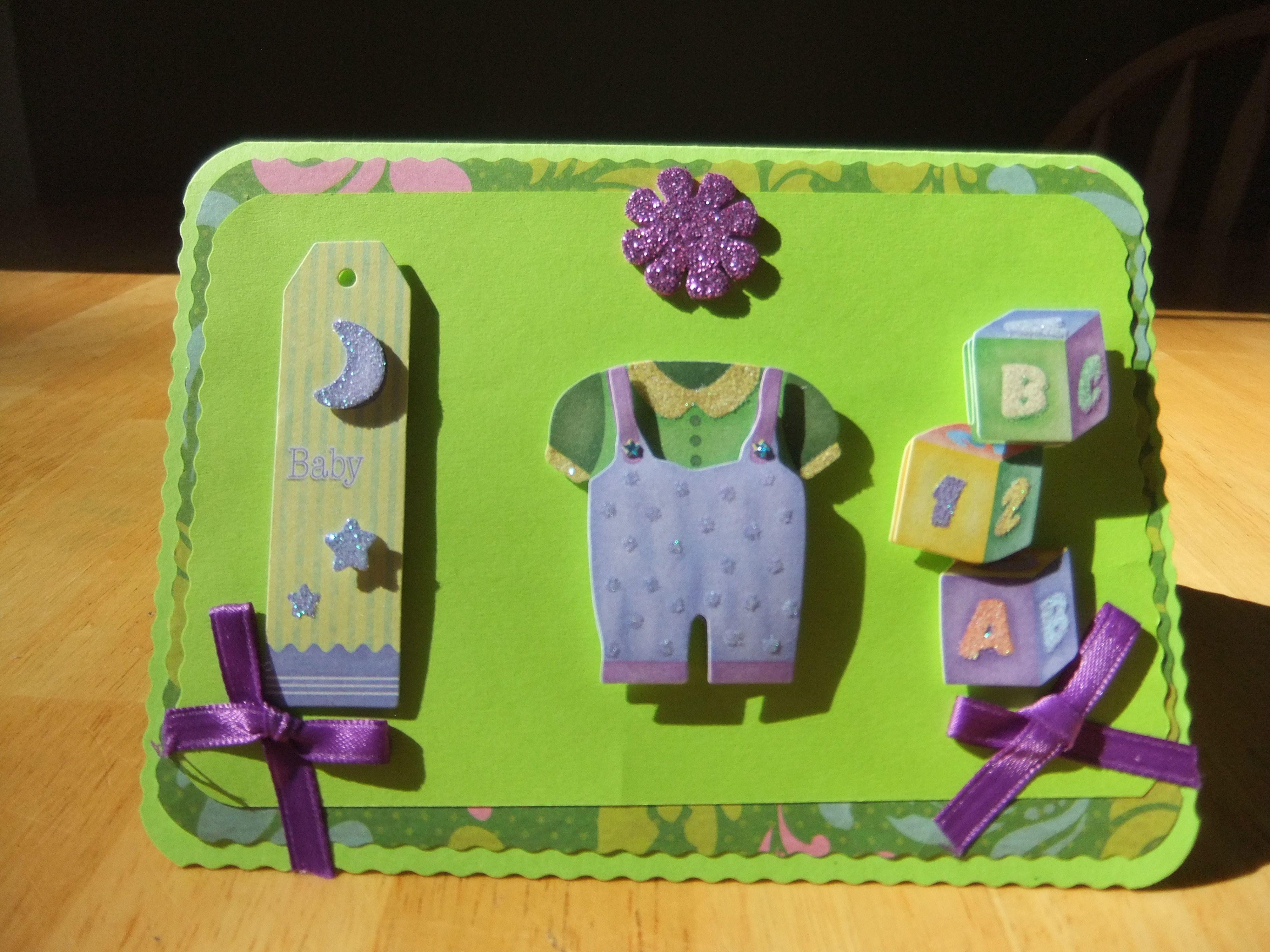 Easy handmade baby card baby handmade cards plus more pinterest