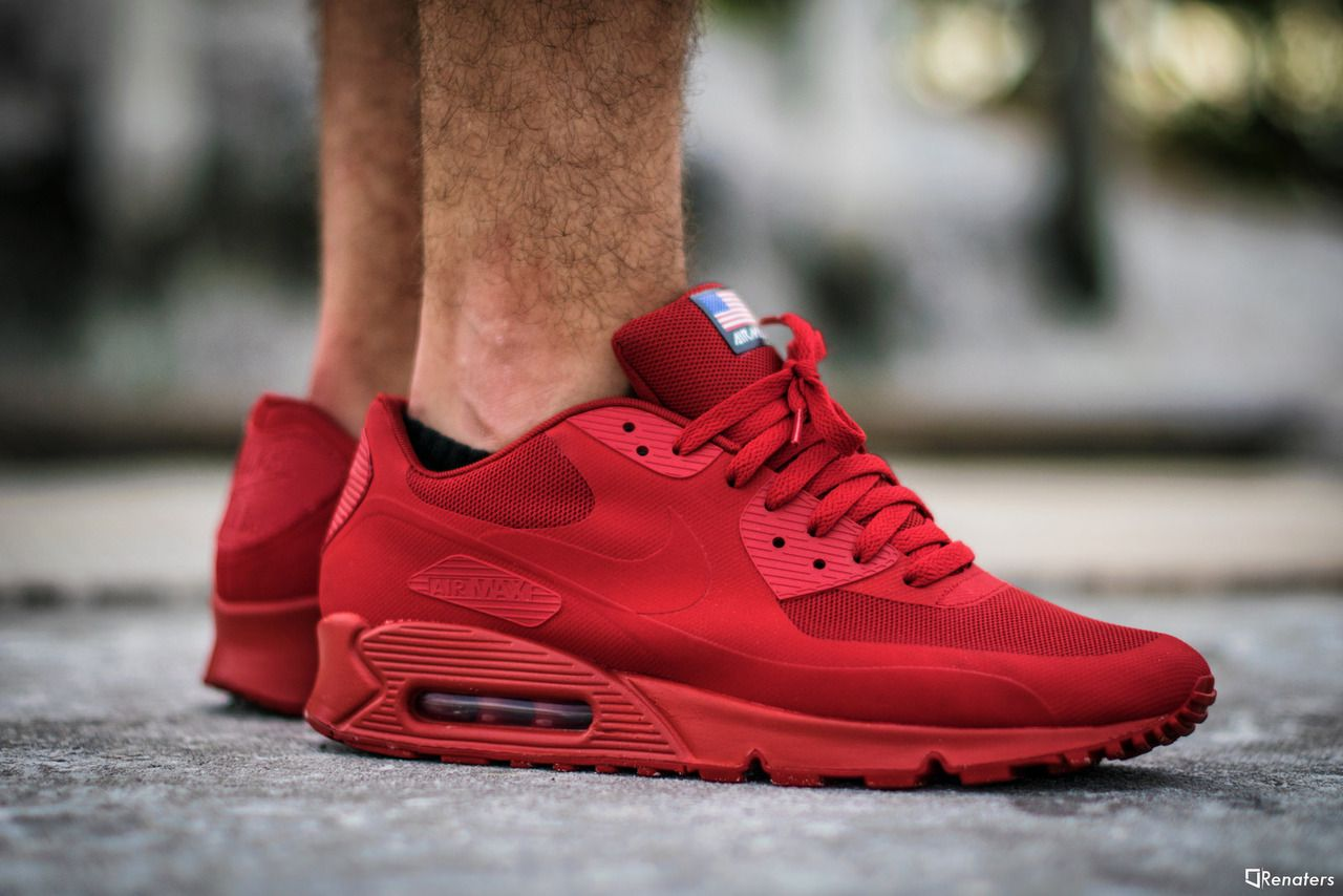 Details about nike air max 90 hyperfuse independence day Red