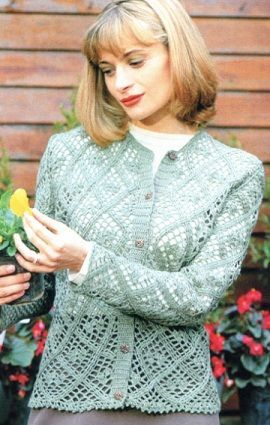 Women's jacket crochet with charts and diagram