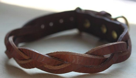 Leather Dog Collar (Matching leash available!!!) $25+