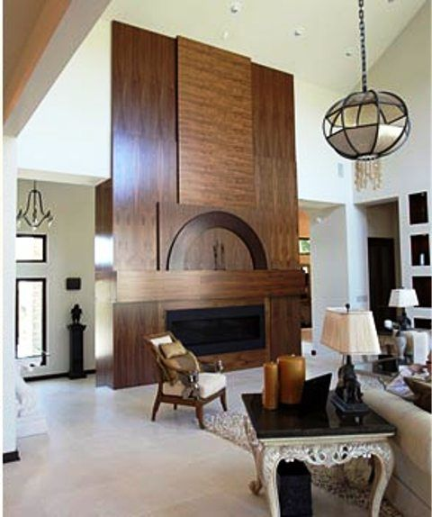 I love the wood on this fireplace :-)