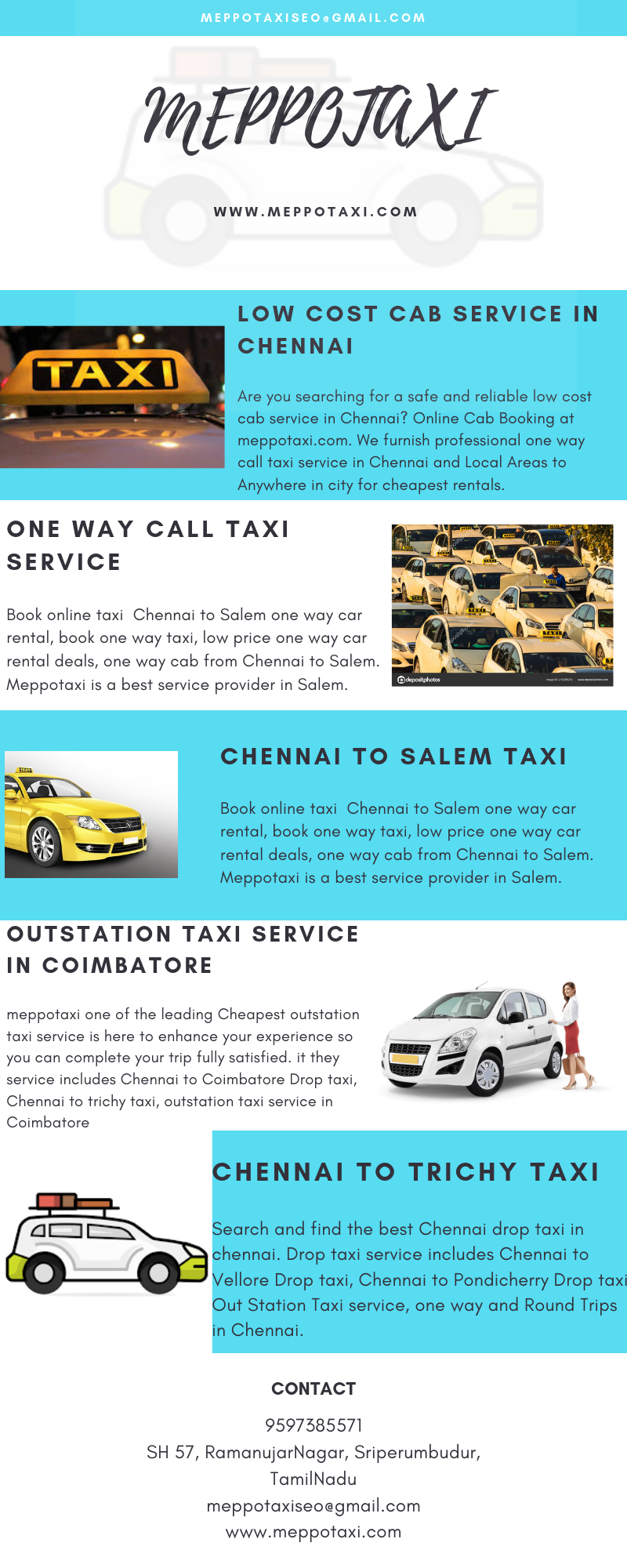 Meppotaxi One Of The Leading Cheapest Outstation Taxi Service Is