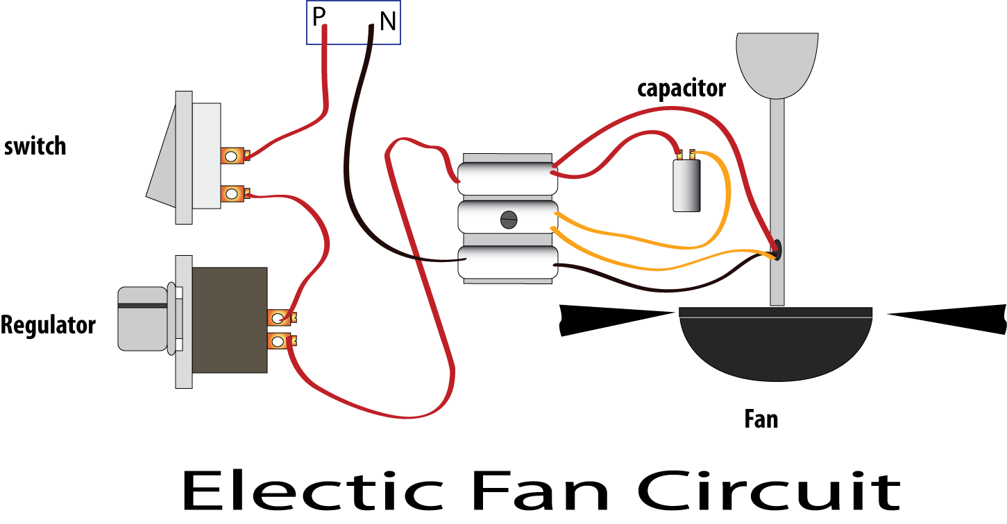 Electric Fan Regulator Circuit Ceiling fan
