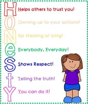 Honesty Activities For Character Education Lessons ...