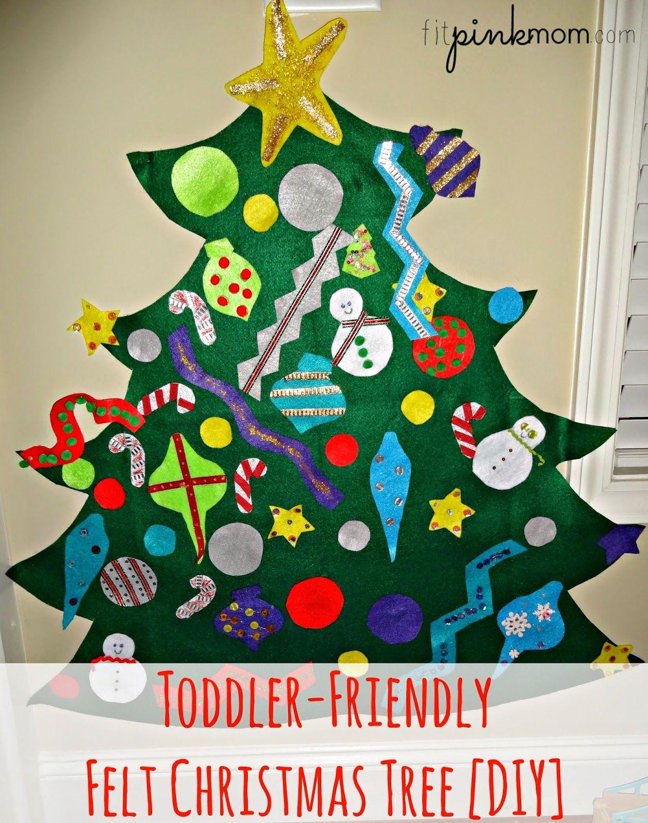 Toddler Friendly Felt Christmas Tree [Diy] #Felttree #Diy #Christmascraft #
