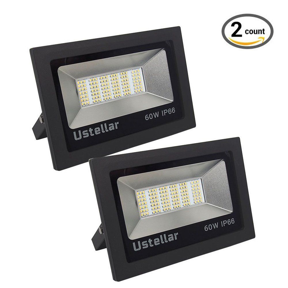 Outdoor Flood Lights Led Ustellar 60W Led Flood Light Outdoor Super Bright Security Lights