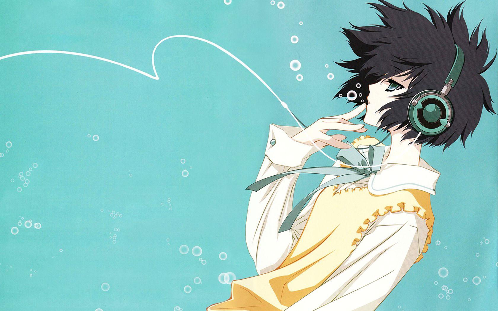 Pin On Anime Anime boy headphones wallpaper